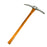 NewRuleFX Brand Foam Rubber Large Mining Pick Axe Stunt Prop - SILVER - Silver Head with Lightwood Grain Handle