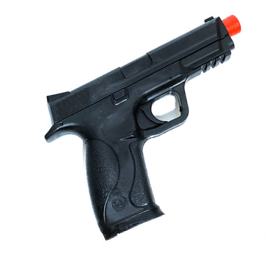 Solid Hard Poly-Plastic Police S&W MP40 Black Pistol Prop - Black