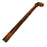 NewRuleFX Brand 28 Inch Length Foam Rubber Metal or Lead Pipe with 90 degree Elbow - RUSTY - Rusty