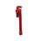 "NewRuleFX Brand Foam Rubber Stunt 18"" Pipe Wrench Prop - BLOODY - Bloodied Red and Black with Metallic Highlights"