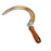 NewRuleFX Brand Foam Rubber Hand Sickle - RUSTY - Rusty Head with Aged Handle