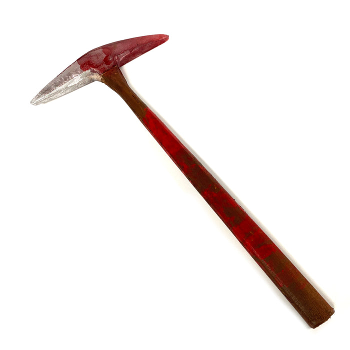 NewRuleFX Brand Foam Rubber Hand Pick Axe Stunt Prop - BLOODY - Bloodied Silver Head with Aged Handle