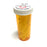 Fake Medicine Pill Capsules in 16 Dram Amber Plastic Medicine Vial with Lid - WHITE - White Pills