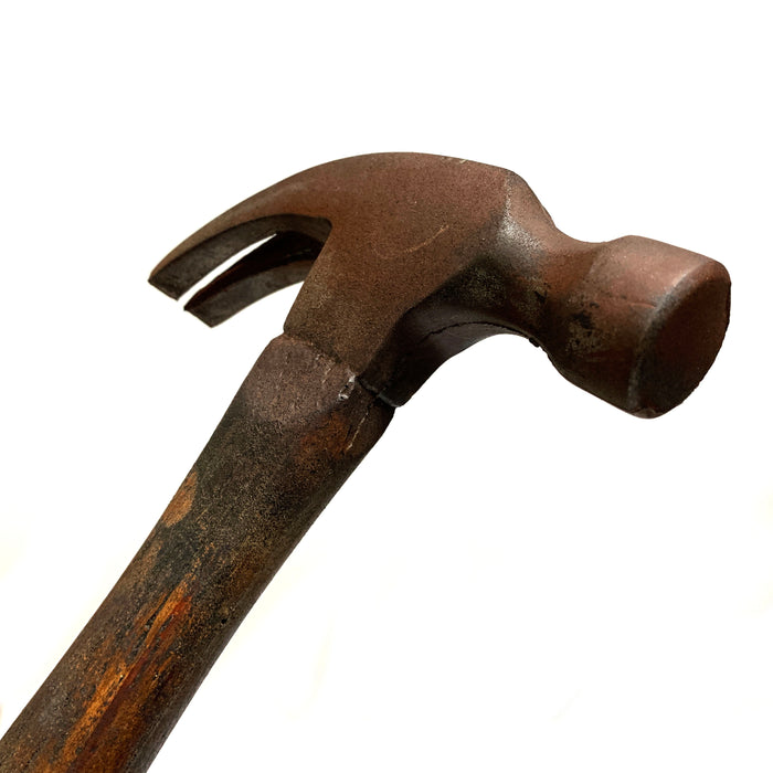 NewRuleFX Brand Foam Rubber Standard Claw Hammer Stunt Prop - RUSTY - Rusty Head with Aged Handle