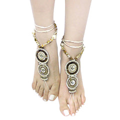 Boho toe ring ankle bracelet