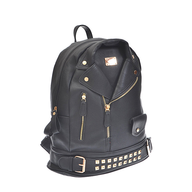 Leather Jacket Backpack - Jewelry Buzz Box  - 2