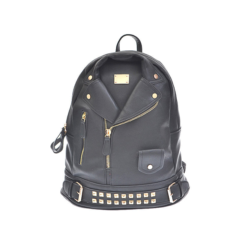 Leather Jacket Backpack - Jewelry Buzz Box  - 1