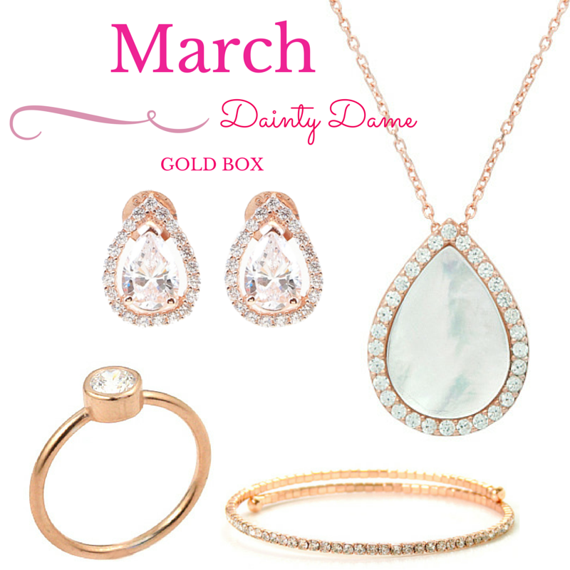 March Gold Dainty Box - Jewelry Buzz Box  - 1