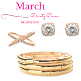 March Dainty Dame Bronze Box - Jewelry Buzz Box  - 1