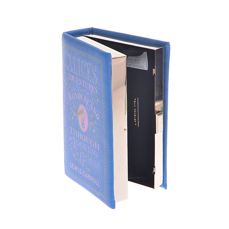 Alices Adventures in Wonderland Book Clutch - Jewelry Buzz Box  - 3