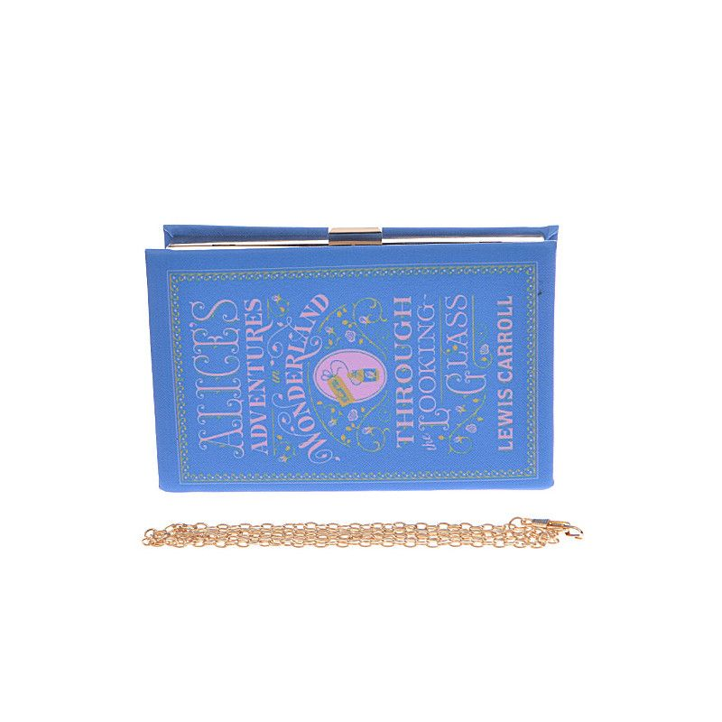 Alices Adventures in Wonderland Book Clutch - Jewelry Buzz Box  - 2