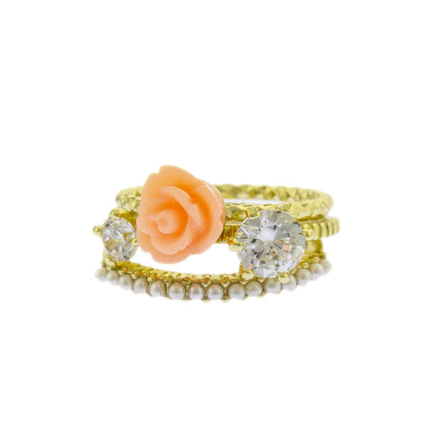 Rose Stack Rings - Jewelry Buzz Box  - 1