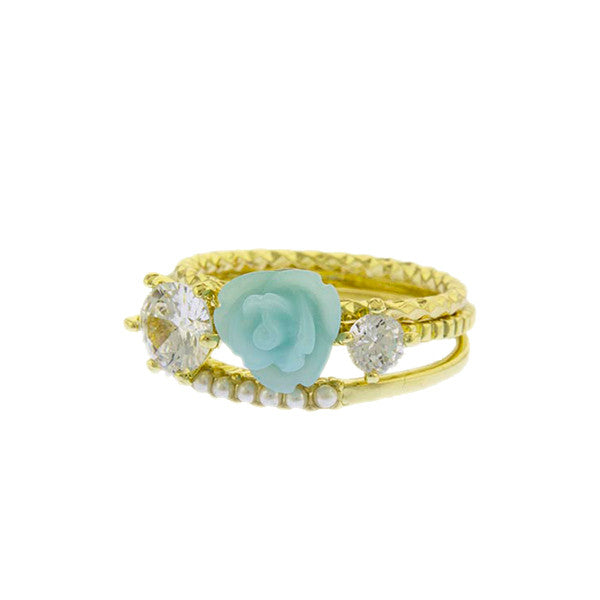 Rose Stack Rings - Jewelry Buzz Box  - 2