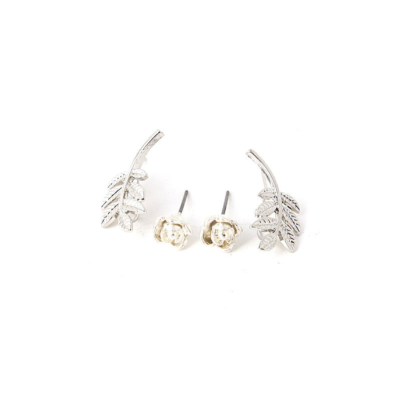 Rose & Branch Earring Set - Jewelry Buzz Box  - 2