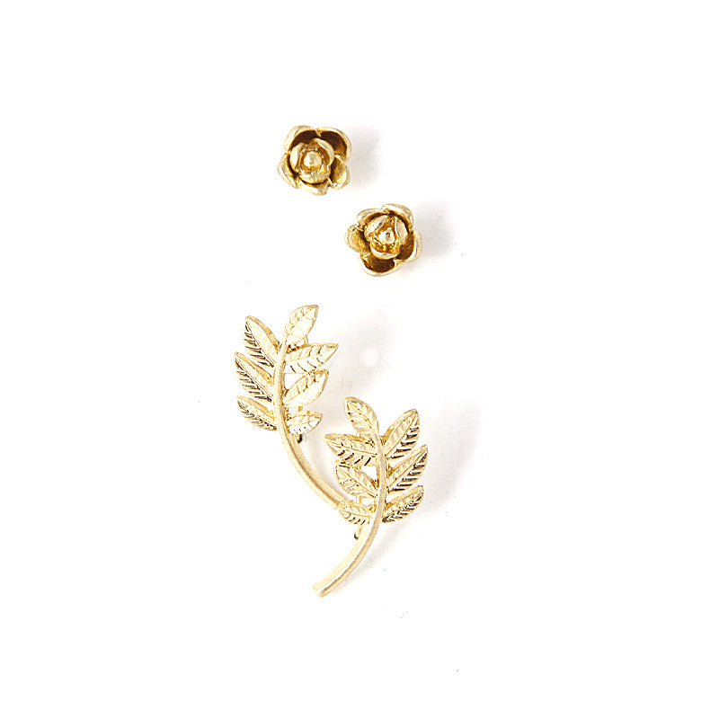 Rose & Branch Earring Set - Jewelry Buzz Box  - 1