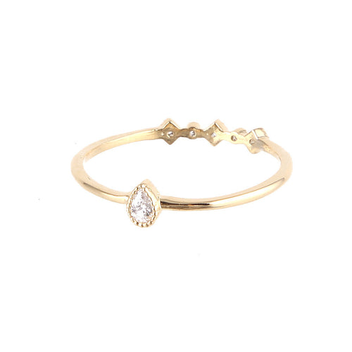 Dainty Tear Mid Ring - Jewelry Buzz Box  - 1