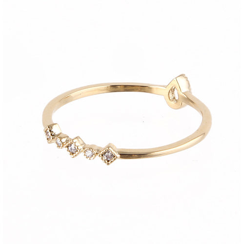 Dainty Tear Mid Ring - Jewelry Buzz Box  - 2