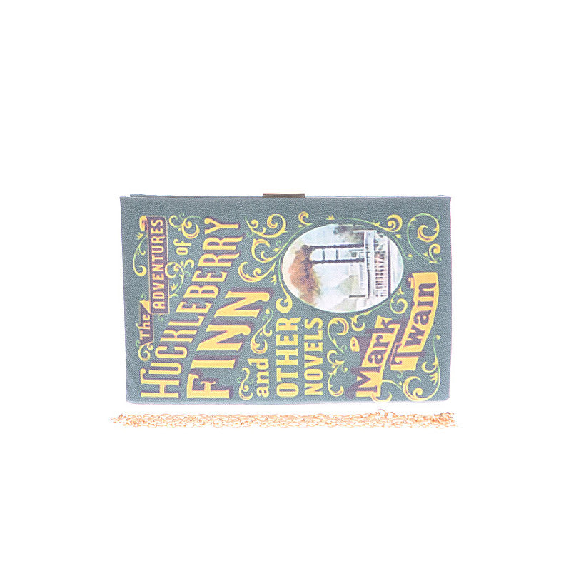 Huckleberry Finn Book Clutch - Jewelry Buzz Box  - 2