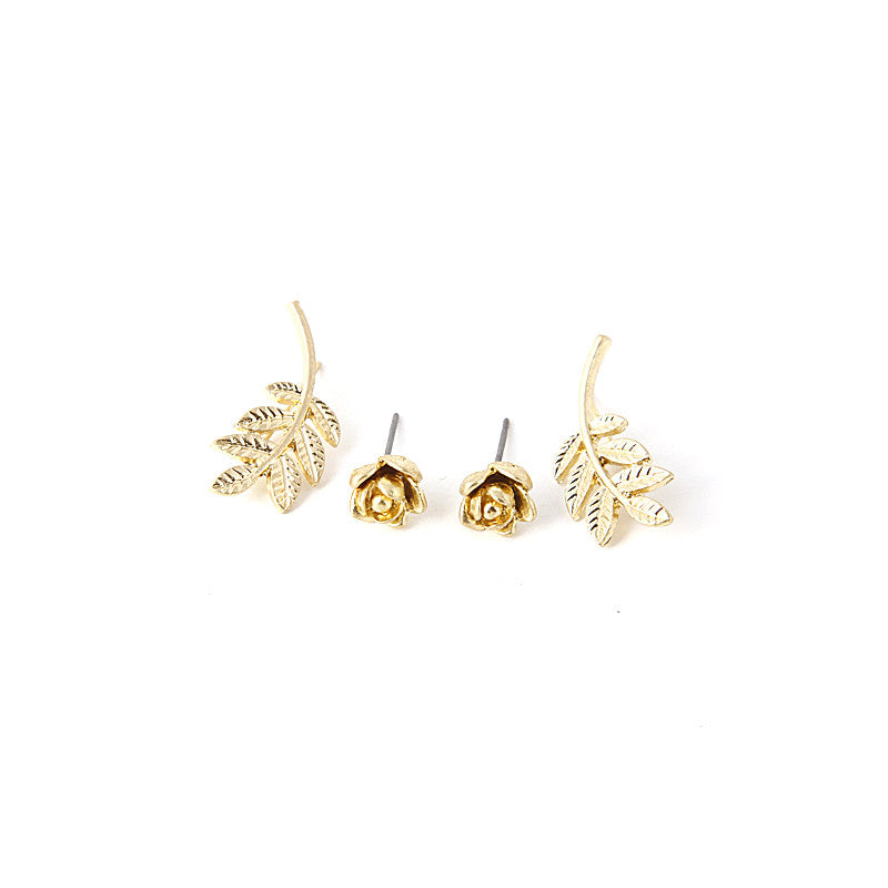 Rose & Branch Earring Set - Jewelry Buzz Box  - 3