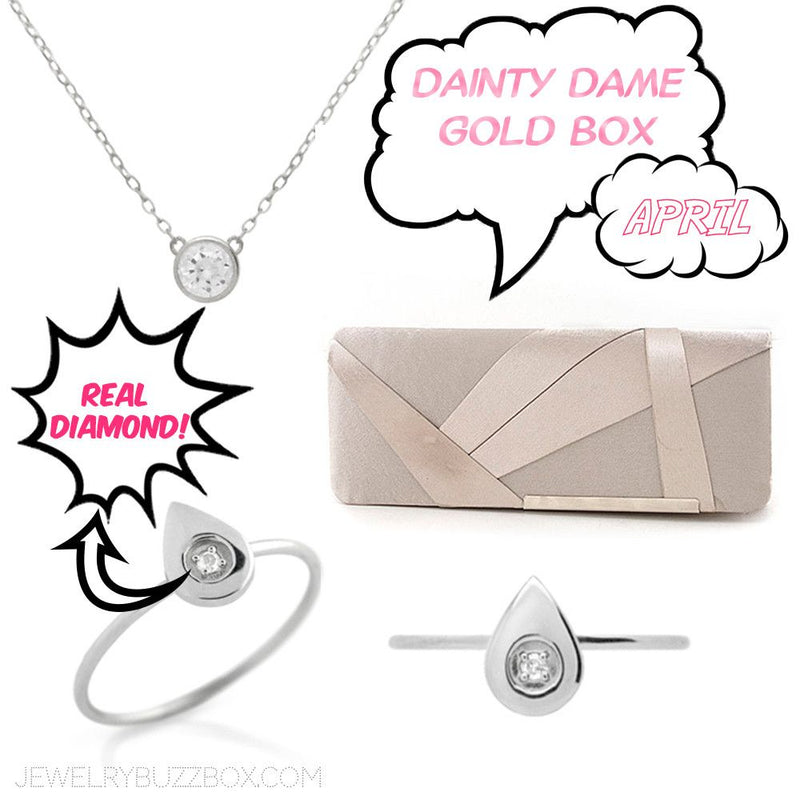April Gold Dainty Dame Box - Jewelry Buzz Box  - 1
