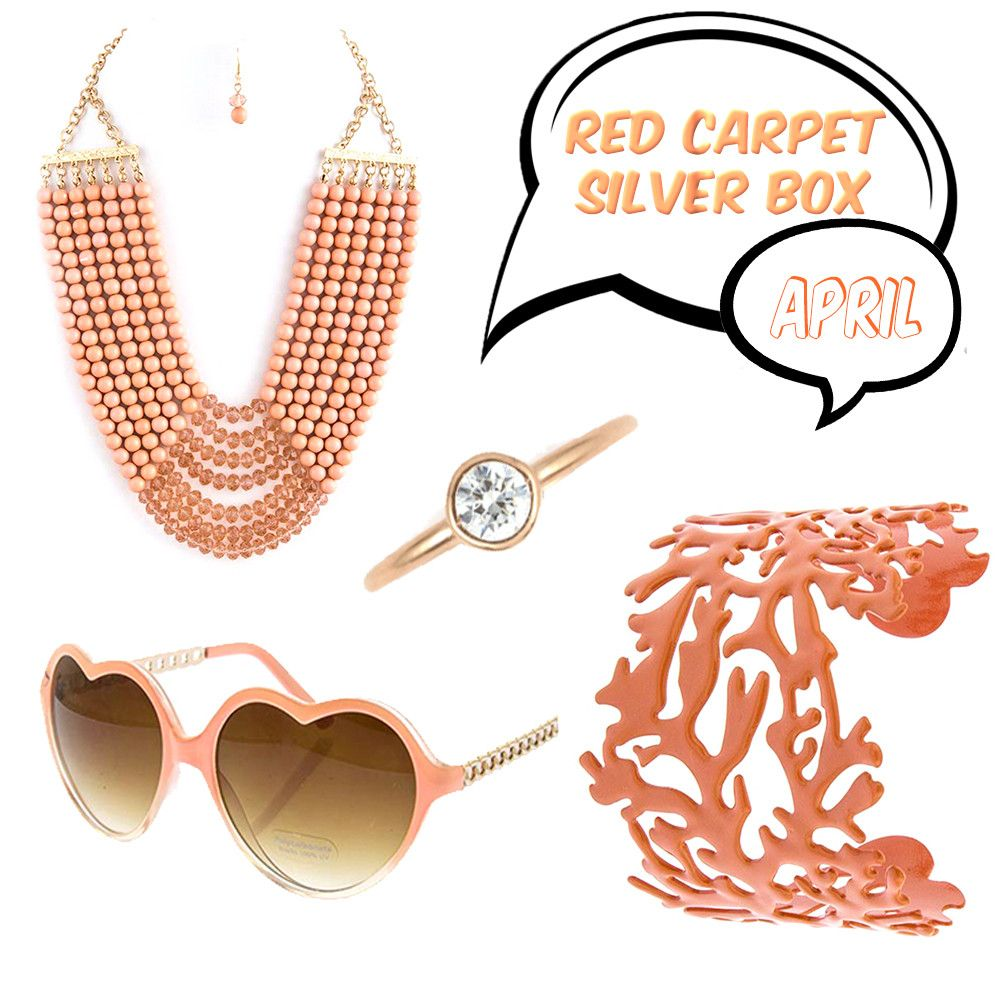 April Red Carpet Silver Box - Jewelry Buzz Box  - 1