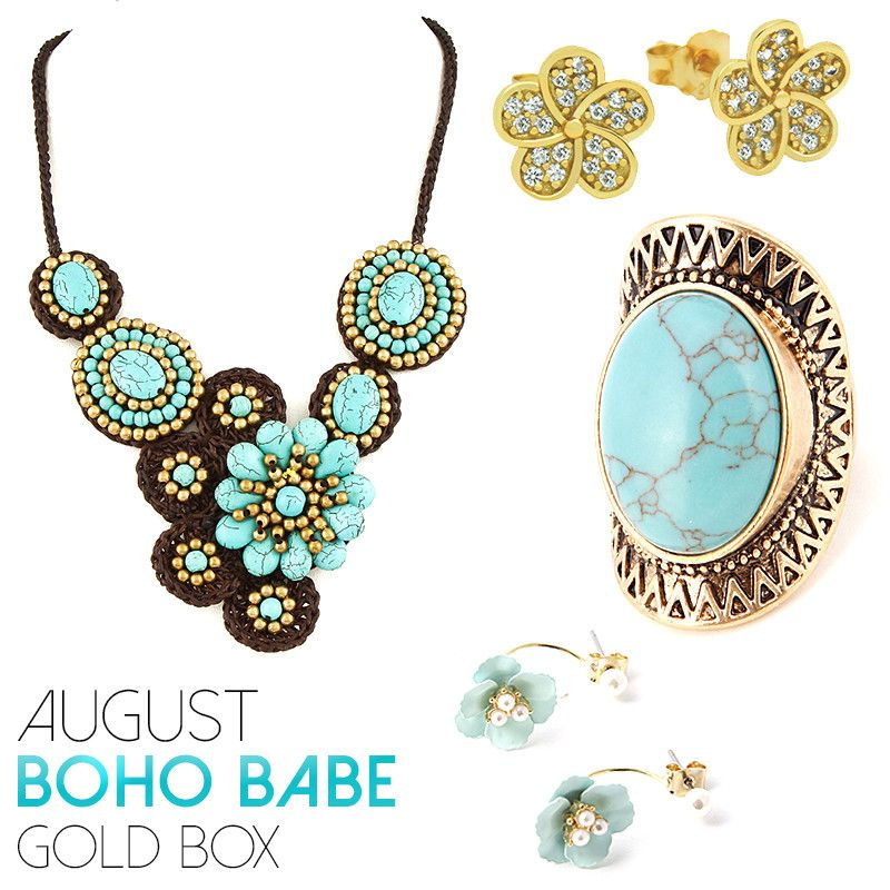 August Boho Babe Gold Box - Jewelry Buzz Box  - 1
