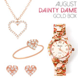 August Dainty Dame Gold Box - Jewelry Buzz Box  - 1