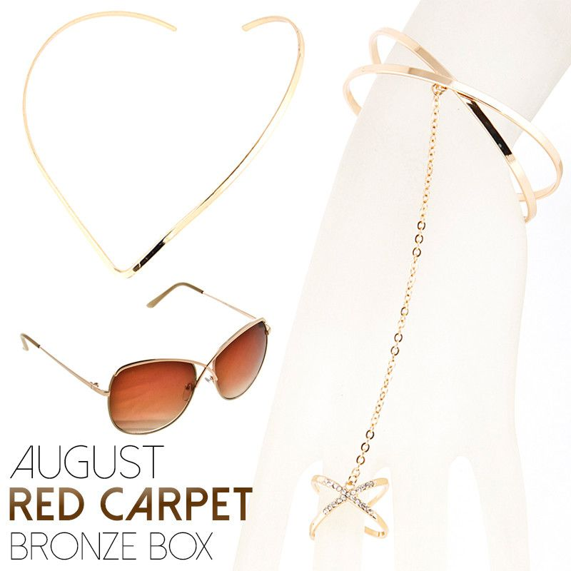 August Red Carpet Bronze Box - Jewelry Buzz Box  - 1