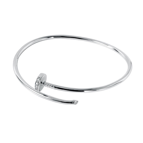 Curl Up Sterling Silver Nail Bracelet - Jewelry Buzz Box