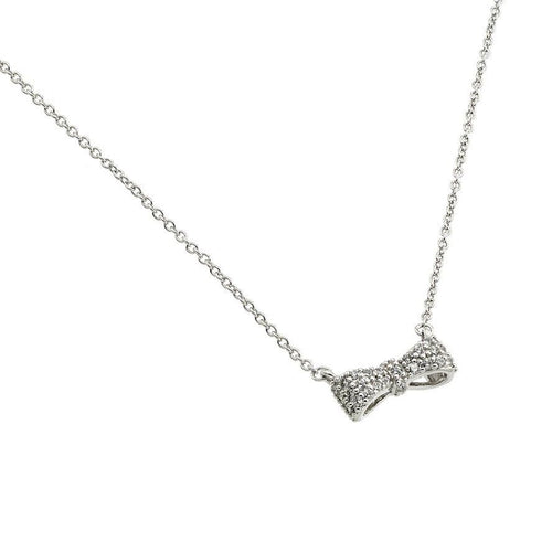 Brilliant Bow Necklace - Jewelry Buzz Box