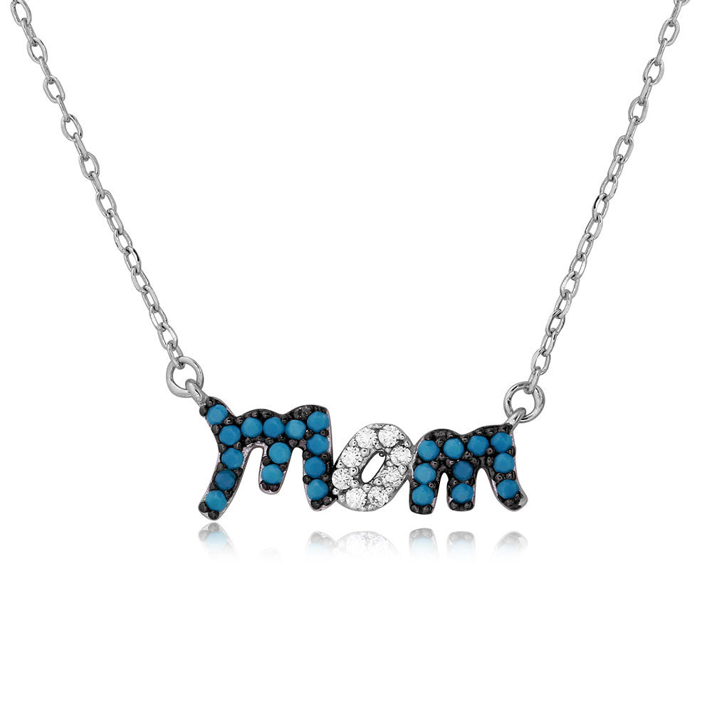 Turquoise Mom Necklace - Jewelry Buzz Box