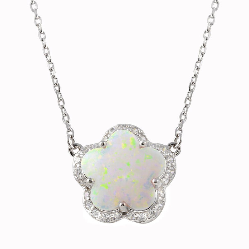 Flower Opal Necklace