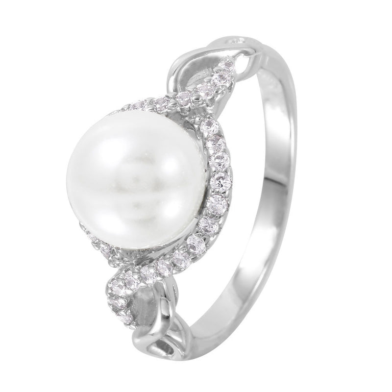Pearly Sterling Silver Ring - Jewelry Buzz Box
