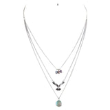 Free Falling Necklace and Earring Set - Jewelry Buzz Box  - 2