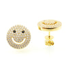 Smiley Face Stud Earrings - Jewelry Buzz Box  - 1