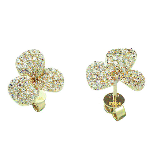Three Leaf Clover Studs