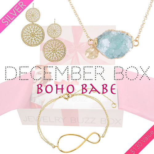 December Boho Silver Box - Jewelry Buzz Box  - 1