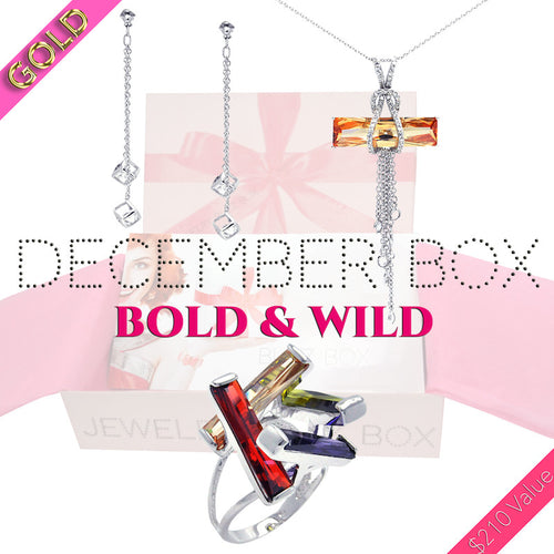 December Bold & Wild Gold Box - Jewelry Buzz Box  - 1