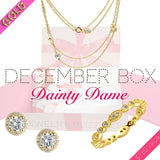 December Dainty Dame Gold Box - Jewelry Buzz Box  - 1