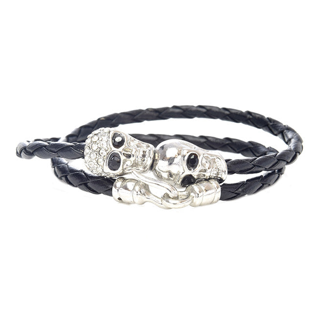 Sexy Skull Wrap Bracelet - Jewelry Buzz Box  - 3