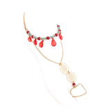 Teardrop Toe Ring Anklet - Jewelry Buzz Box  - 3