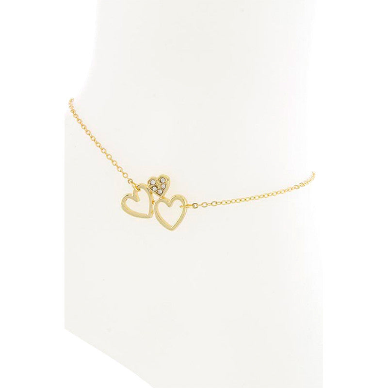 Heart Anklet - Jewelry Buzz Box  - 2