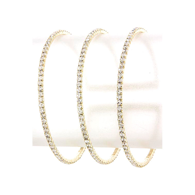 Simple Crystal Cuff Bracelet - Jewelry Buzz Box  - 3
