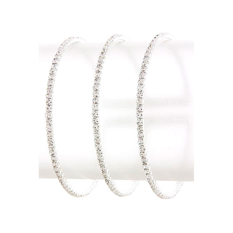 Simple Crystal Cuff Bracelet - Jewelry Buzz Box  - 1