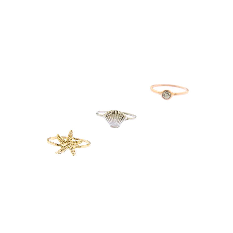Under The Sea Knuckle Ring Set - Jewelry Buzz Box  - 2