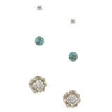 Rosey 3 Stud Set - Jewelry Buzz Box  - 1
