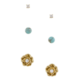 Rosey 3 Stud Set - Jewelry Buzz Box  - 2