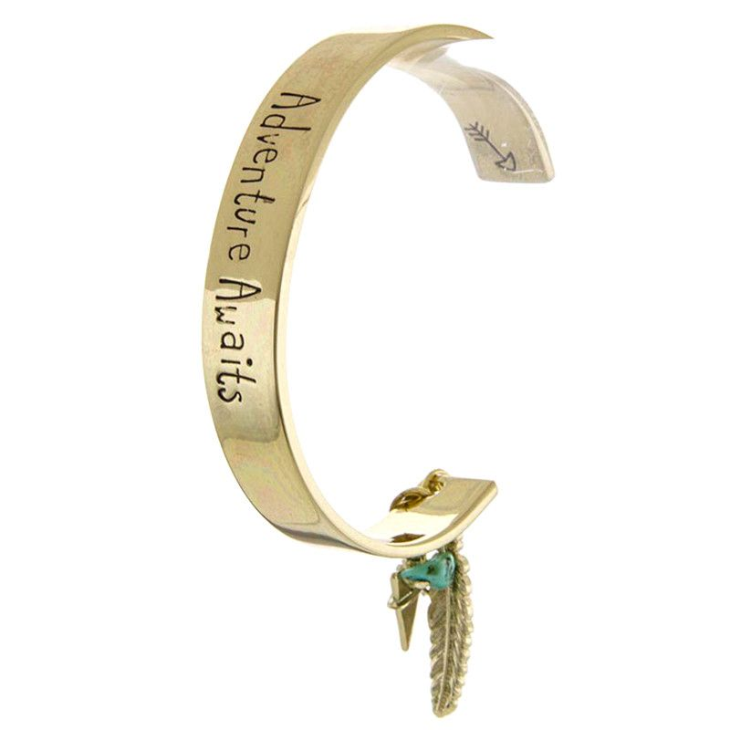 Adventure Awaits Cuff Bracelet - Jewelry Buzz Box  - 1