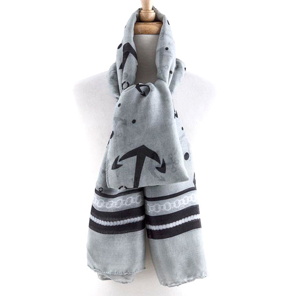 Impressive Anchor Design Scarf - Jewelry Buzz Box  - 1
