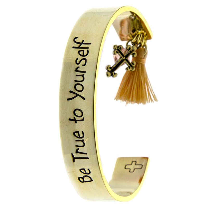Be True To Yourself Cuff Bracelet - Jewelry Buzz Box  - 2